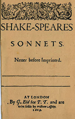 Shakespeares Sonnets First Folio