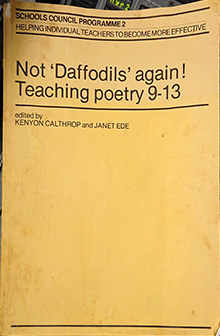 Not Daffodils Again Teaching Poetry